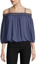 BY AND BY by&by3/4 SleeveOff The ShoulderBlouse-Juniors