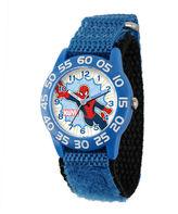Marvel Spider-Man Kids Time Teacher Blue Nylon Strap Watch