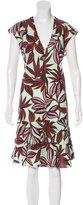 Etro Floral Print Flounce Hem Dress