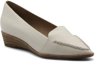 Bettye Muller Pointed Toe Wedge Loafer