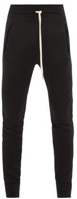 John Elliott Escobar Loop-back Cotton Jersey Track Pants - Mens - Black