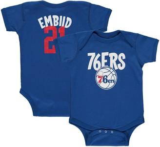 Infant Joel Embiid Royal Philadelphia 76ers Name & Number Creeper