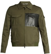 Valentino Faux-leather Pocket Cotton-twill Jacket