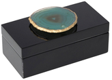 Mapleton Drive Small Lacquered Box with Agate