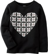 Carter's Graphic Top (Baby) - Flower Heart-24 Months