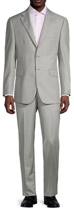 Saks Fifth Avenue Traveler Tailored-Fit Wool Suit