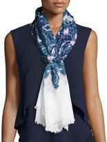 Michael Stars Paisley Print Woven Scarf, Blue