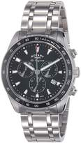 Rotary Legacy Men's Quartz Watch with Dial Chronograph Display and Silver Stainless Steel Bracelet GB90169/04