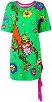 Moschino crowned monkey dress - women - Rayon/other fibers - 36