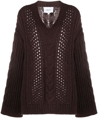Nanushka Oversized Cable-Knit Jumper