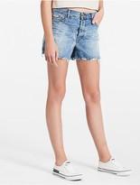 Calvin Klein Light Wash Frayed Denim Shorts