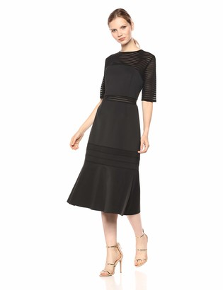 Finders Keepers findersKEEPERS Women's Deception Crew Neck Short Sleeve Midi Dress