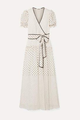 Diane von Furstenberg Celeste Fil Coupe Chiffon Wrap Maxi Dress - Cream