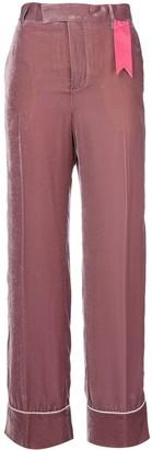 The Gigi Contrast Applique Flared Pants
