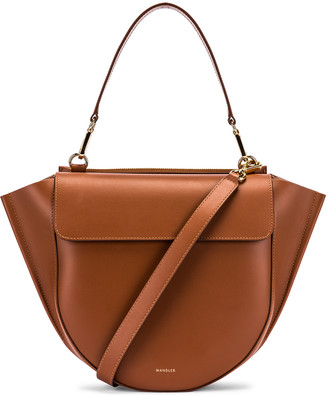 Wandler Medium Hortensia Leather Bag in Tan | FWRD