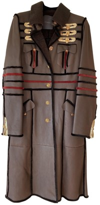 Fendi Brown Shearling Coat for Women