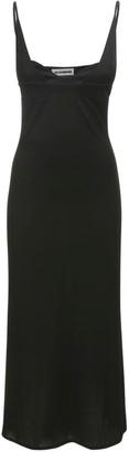 Jil Sander Jersey Crepe Midi Dress