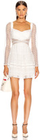 Self-Portrait Self Portrait Lace Cut Out Mini Dress in White | FWRD