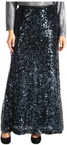 Calvin Klein Plus Size Sequin Maxi Skirt (Deep Sea) - Apparel