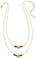 Heather Hawkins Tiny Skulls Drape Necklace