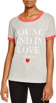 Wildfox Couture Young in Love Printed Tee