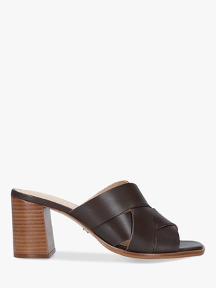 Carvela Glass Leather Mule Shoes, Brown