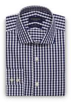 Osborne Big And Tall Navy Large Twill Gingham Regular Shirt