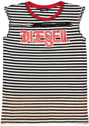 Diesel Striped Cotton Jersey Dress