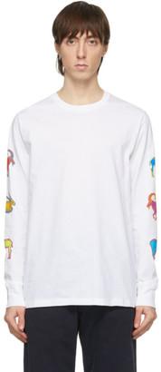 Paul Smith White Long Sleeve Goat T-Shirt
