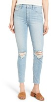 Mother Women's Miranda + Easy Does It High Waist Crop Skinny Jeans