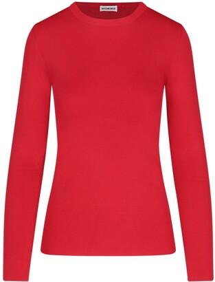 Balenciaga Logo Motif Long-Sleeve Top