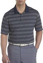 Reebok PlayDry Multi-Color Stripe Polo Casual Male XL Big & Tall