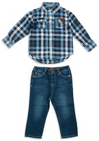 7 For All Mankind Boys' Plaid Flannel Shirt & Jeans Set - Sizes 2T-4T