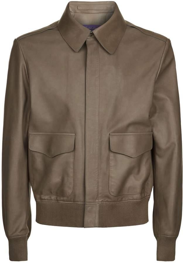 Ralph Lauren Purple Label Henfield Leather Aviator Jacket