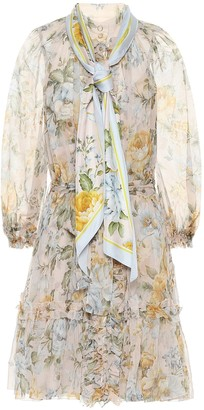Zimmermann Lucky floral silk minidress