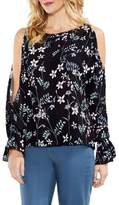 Vince Camuto Flare Cuff Cold Shoulder Floral Top