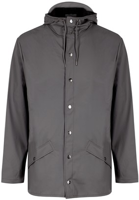 Rains Grey Water-resistant Rubberised Raincoat