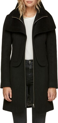 Soia & Kyo Slim Fit Wool Blend Coat