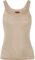 Missoni Metallic Crochet-knit Tank - Gold