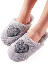 Vero Monte 1 Pair Womens Anti-slip Indoor Slippers (Size 7-8, Grey) 4341CA