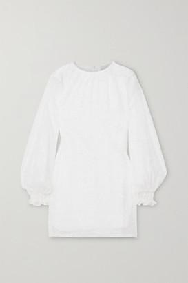 Vanessa Cocchiaro The Eleanor Fil Coupe Chiffon Mini Dress - White