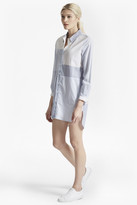 French Connection City Stripe Oversized Shirt Dress