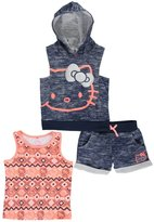 "Hello Kitty Big Girls' ""Aztec Feline"" 3-Piece Outfit"