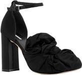 Max Studio Liv – Draped Satin Ankle-Strap Heels