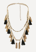 Bebe Tassel Long Necklace