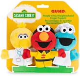 Thumbnail for your product : Gund Sesame Street People In Your Neighborhood Finger Puppets 3-Piece Plush Stuffed Animal Set