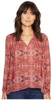 Lucky Brand Printed Parachute Top Women's Clothing