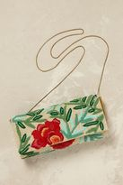 Anthropologie Isola Beaded Floral Clutch