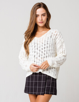 Coco & Jaimeson Womens V Neck Sweater
