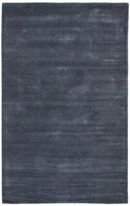 Jaipur Living Basis Handmade Solid Dark Blue Area Rug, 5'x8'